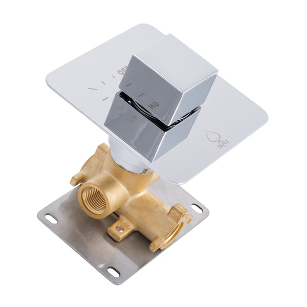 BAI 0140 Concealed ON/OFF Valve / 1 Function (Square Knob)