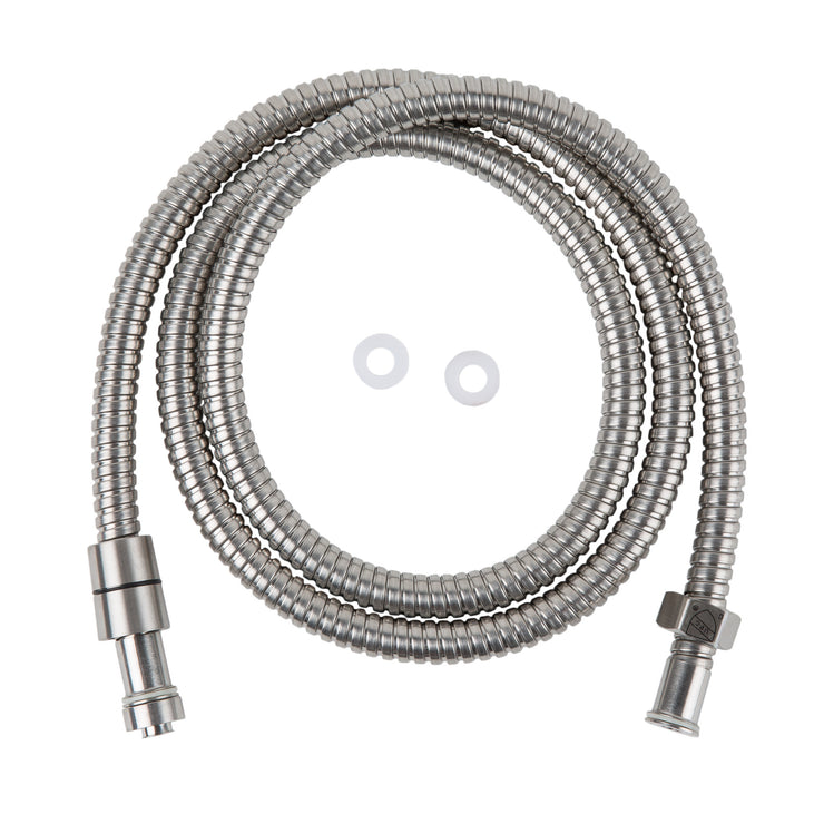 BAI 0158 Super-Flex Stainless Steel Shower Hose in Brushed Nickel Finish