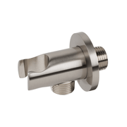 BAI 0164 Wall Mounted Handheld Shower Holder with Integrated Hose Connection in Brushed Nickel Finish