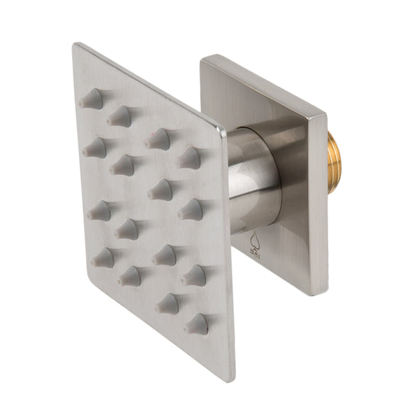 BAI 0166 Adjustable Shower Body Spray / Jet Square / Brushed Nickel