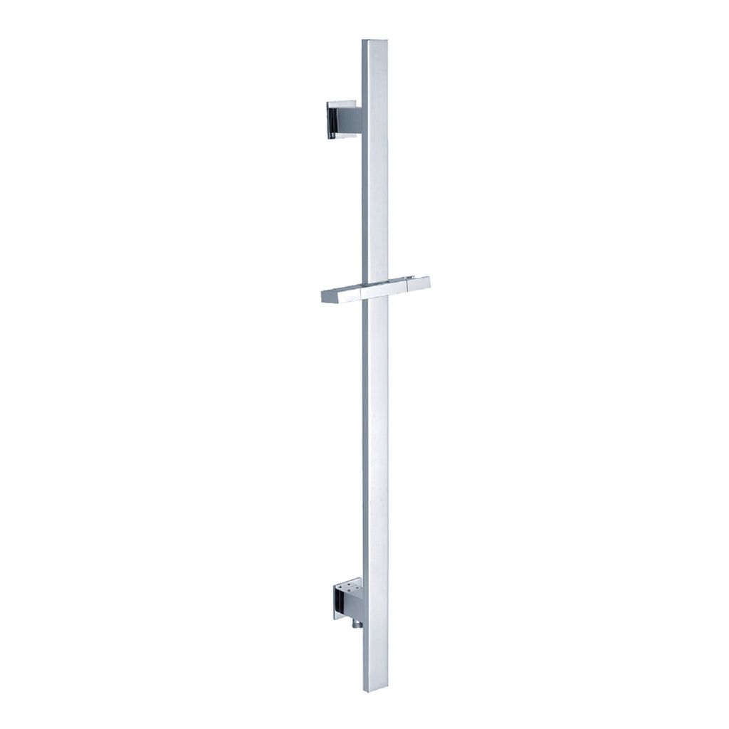 BAI 0171 Handheld Shower Holder / Slide Bar With Hose Connector Square