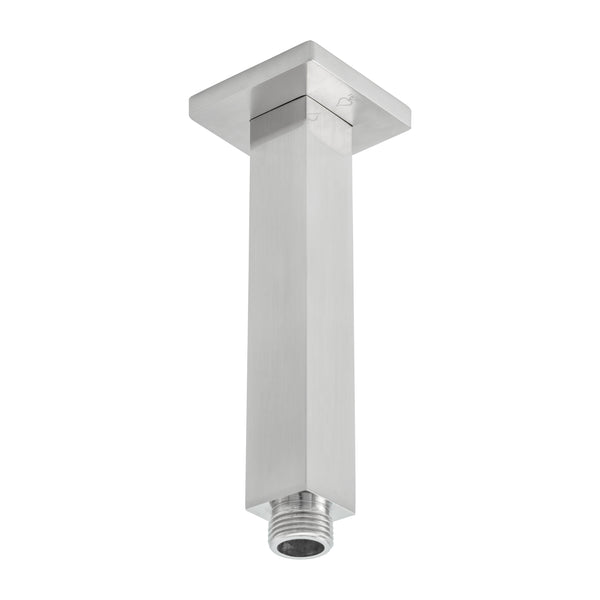 BAI 0433 Ceiling Mounted 6-inch Shower Head Arm in Brushed Nickel Finish