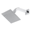 BAI 0441 Stainless Steel 6-inch Square Rainfall Shower Head in Polished Chrome Finish