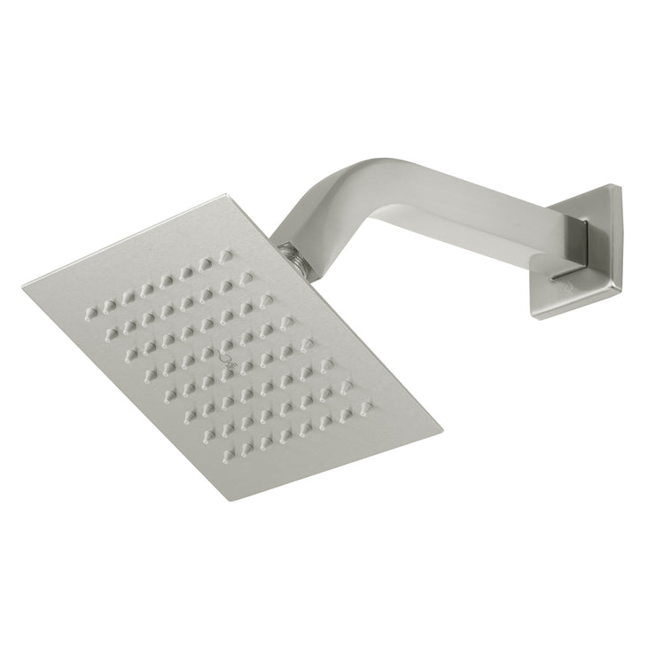 BAI 0443 Stainless Steel 6-inch Square Rainfall Shower Head in Brushed Nickel Finish