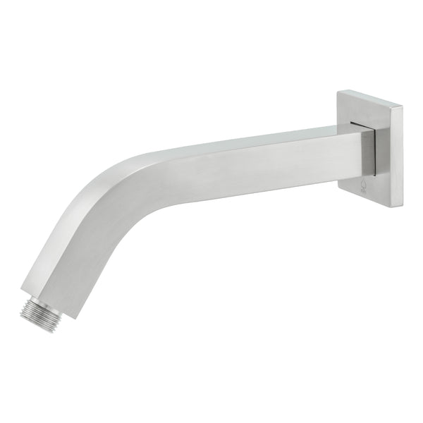 "BAI 0447 Wall Mounting 45 Degree Shower Head Arm 9"" / Square / Brushed Nickel Finish"