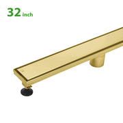BAI 0502 Stainless Steel 32-inch Linear Shower Drain in Brushed Gold