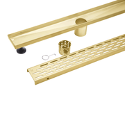 BAI 0520 Stainless Steel 32-inch Linear Shower Drain in Brushed Gold
