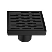 BAI 0524 Stainless Steel 5-inch Square Shower Drain in Matte Black