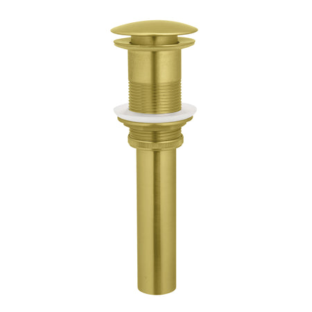 BAI 0537 Round Pop-up Drain with No Overflow in Brushed Gold Finish