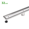 BAI 0554 Stainless Steel 32-inch Tile Insert Linear Shower Drain