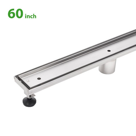 BAI 0579 Stainless Steel 60-inch Tile Insert Linear Shower Drain