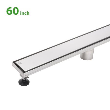 BAI 0582 Stainless Steel 60-inch Linear Shower Drain