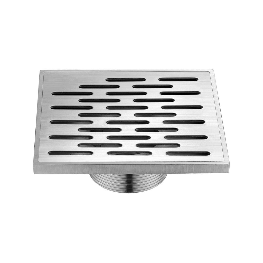 "BAI 0586 Cast Stainless Steel Square Shower Drain 5""x5"""