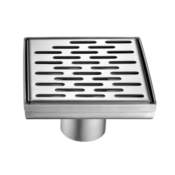 BAI 0587 Stainless Steel 5-inch Square Shower Drain