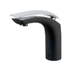 BAI 0611 Single Handle Contemporary Bathroom Faucet in Black and Polished Chrome Finish