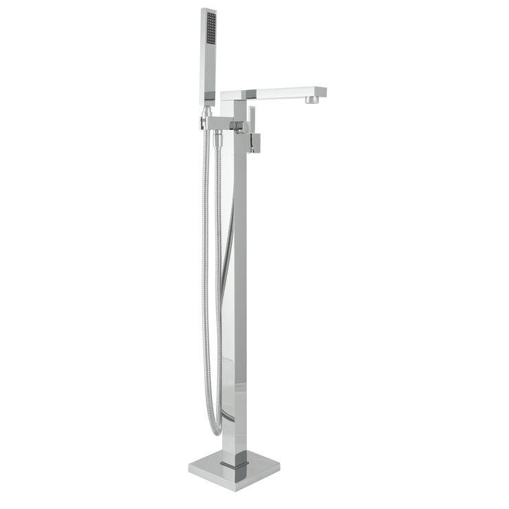 BAI 0618 Freestanding Bathtub Faucet in Polished Chrome Finish