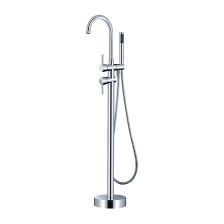 BAI 0619 Freestanding Bathtub Faucet in Polished Chrome Finish