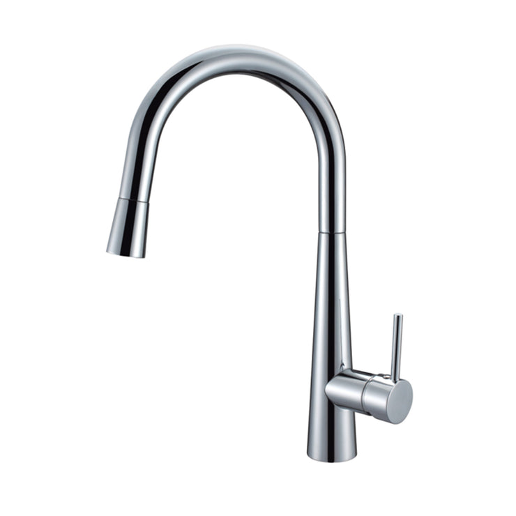 BAI 0627 Single Handle Kitchen Faucet with Pull Down System in Polished Chrome Finish