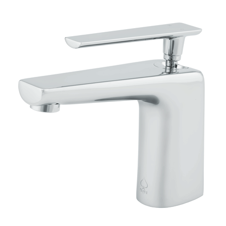 BAI 0628 Single Handle Contemporary Bathroom Faucet in Polished Chrome Finish