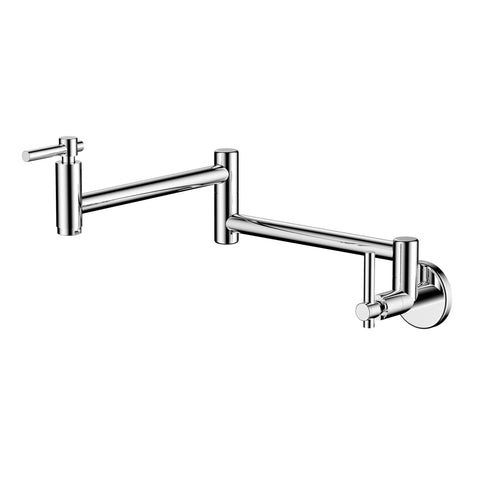 BAI 0634 Wall Mounted Kitchen Pot Filler / Polished Chrome