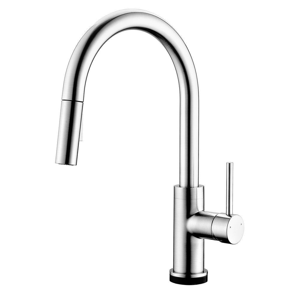 BAI 0638 Single Handle Kitchen Faucet With Pull-Down Spray / Touch-to ON-OFF / Brushed