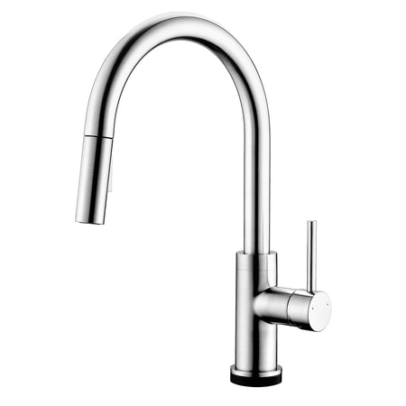 BAI 0638 Single Handle Kitchen Faucet With Pull-Down Spray / Touch-to ON-OFF / Polished Chrome
