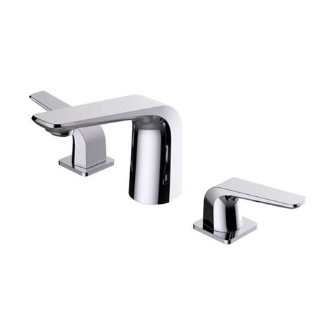 BAI 0646 Two Handles Contemporary Lavatory / Bathroom Faucet / Polished Chrome