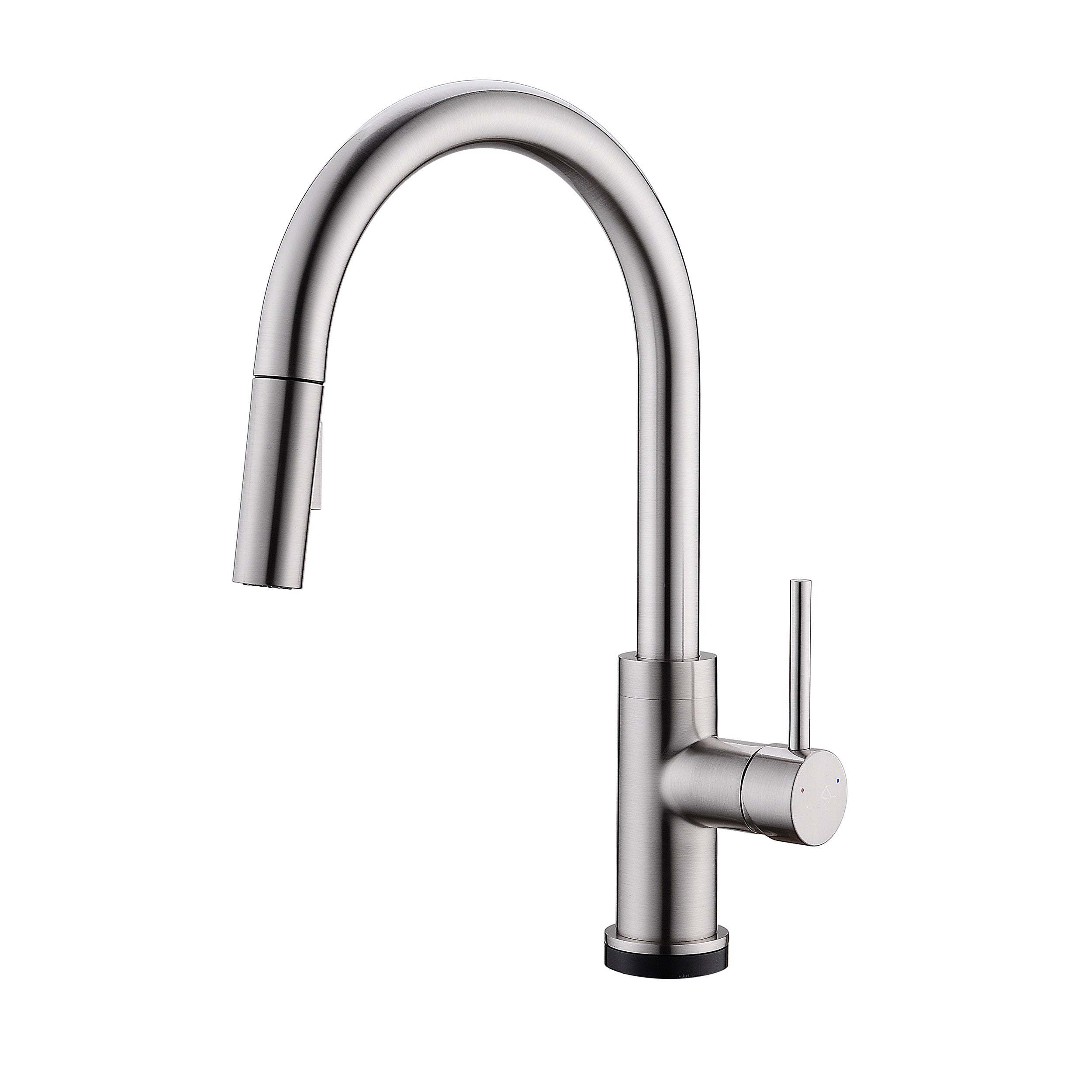 Bai 0651 single handle kitchen faucet with pull down spray touch to on off brushed finish