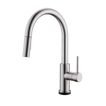 BAI 0651 Single Handle Kitchen Faucet With Pull-Down Spray / Touch-to ON-OFF / Brushed Finish