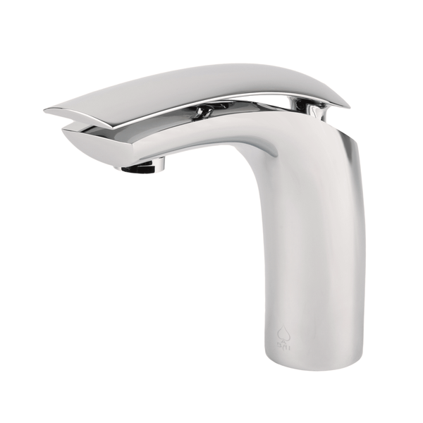 BAI 0652 Single Handle Contemporary Bathroom Faucet in Brushed Finish