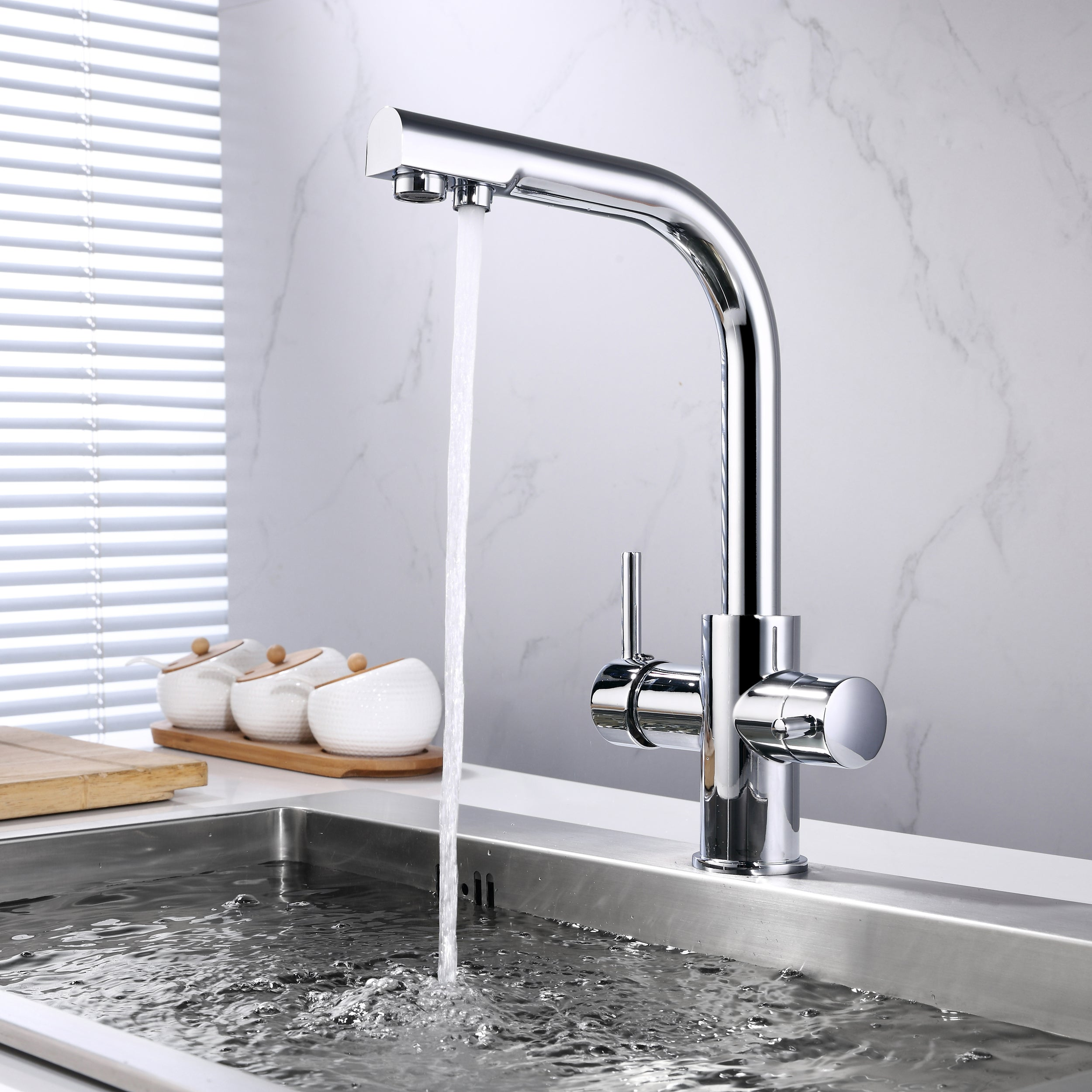 ... BAI 0663 Kitchen Faucet / Integrated Drinking Water Faucet / Two In One  / Polished Chrome ...