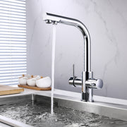 BAI 0663 Kitchen Faucet with Integrated Drinking Water Faucet in Polished Chrome Finish
