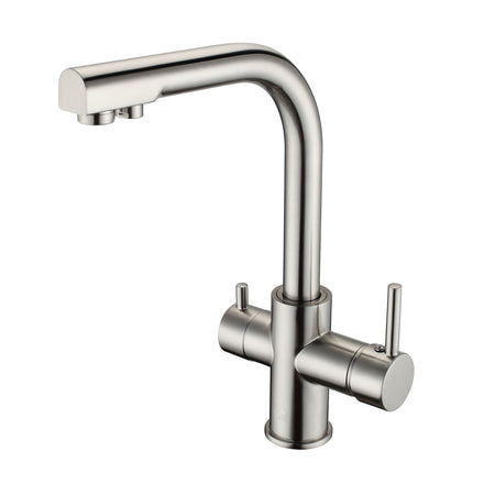 BAI 0664 Kitchen Faucet with Integrated Drinking Water Faucet in Brushed Finish