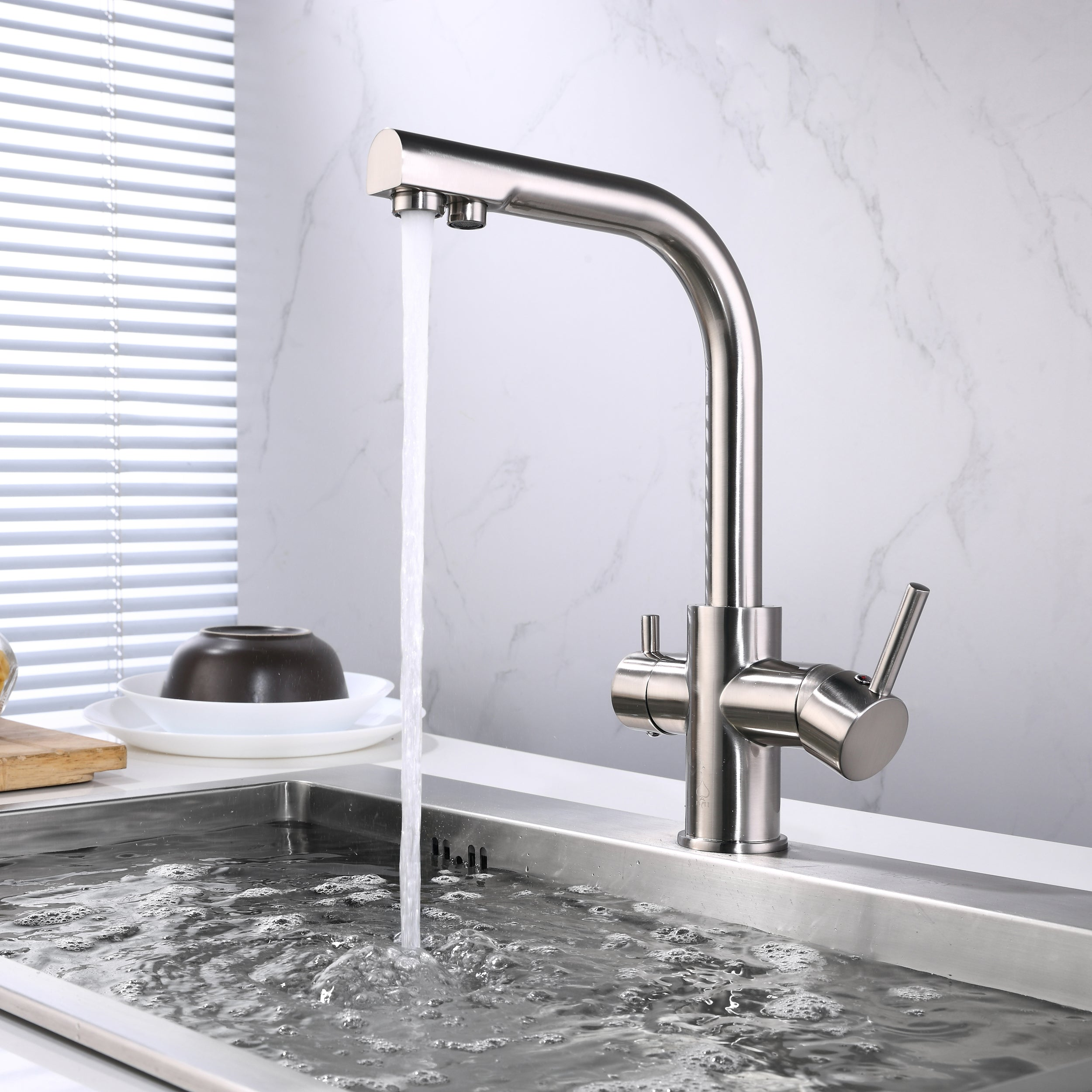 ... BAI 0664 Kitchen Faucet / Integrated Drinking Water Faucet / Two In One  / Brushed Finish ...