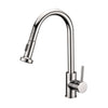 BAI 0669 Single Handle Kitchen Faucet with Pull Down System in Brushed Finish