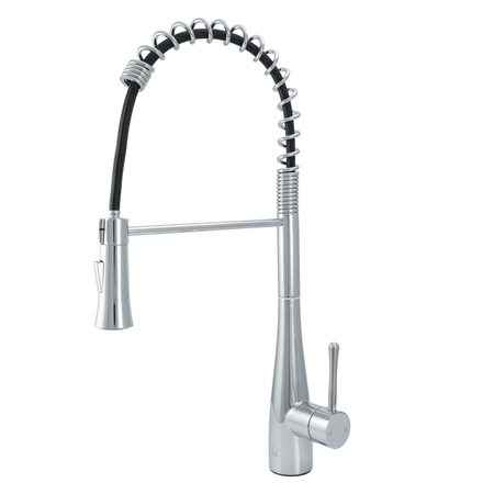 BAI 0672 Stainless Steel Single Handle Kitchen Faucet With Pull-Down Spray / Polished Chrome
