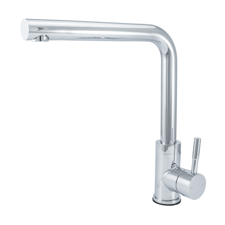 BAI 0676 Stainless Steel Single Handle Kitchen Faucet in Polished Chrome Finish
