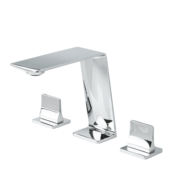BAI 0686 Two Handles Contemporary Bathroom Faucet in Polished Chrome Finish