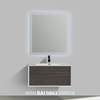 BAI 0700 Wall Hung 36-inch Bathroom Vanity in Gray Oak Finish