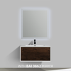 BAI 0701 Wall Hung 36-inch Bathroom Vanity in Rose Wood Finish