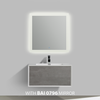 BAI 0703 Wall Hung 36-inch Bathroom Vanity in Stone Gray Finish