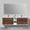 BAI 0709 Wall Hung 75-inch Bathroom Vanity in Rose Wood Finish