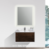 BAI 0713 Wall Hung 30-inch Bathroom Vanity in Rose Wood Finish