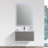 BAI 0715 Wall Hung 30-inch Bathroom Vanity in Stone Gray Finish