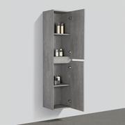 BAI 0750 Wall Hung Bathroom Side Cabinet / Reversible / Stone Gray Finish / 16""