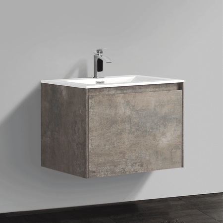 BAI 0756 Wall Hung 24-inch Bathroom Vanity in Rustic Stone Finish