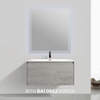 BAI 0762 Wall Hung 36-inch Bathroom Vanity in Stone Gray Finish