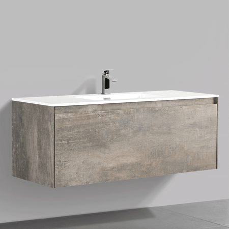 BAI 0764 Wall Hung 47-inch Bathroom Vanity in Rustic Stone Finish