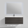 BAI 0765 Wall Hung 47-inch Bathroom Vanity in Graphite Wood Finish