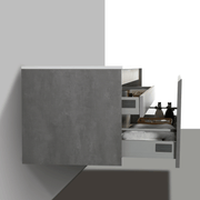 BAI 0766 Wall Hung 47-inch Bathroom Vanity in Stone Gray Finish
